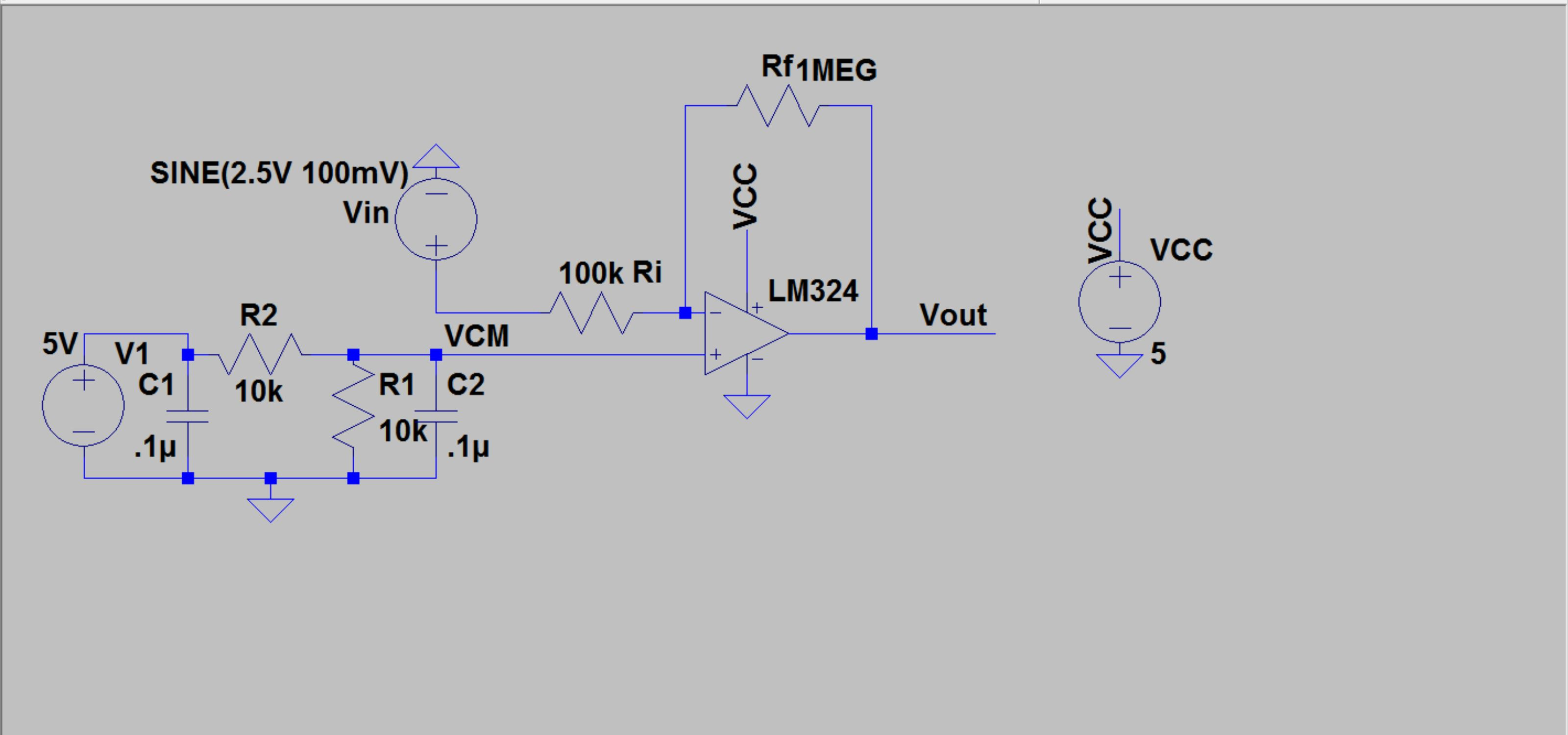 Lab Lm324 Circuit Diagram Schematic For Inverting Op Amp With A Gain Of 10