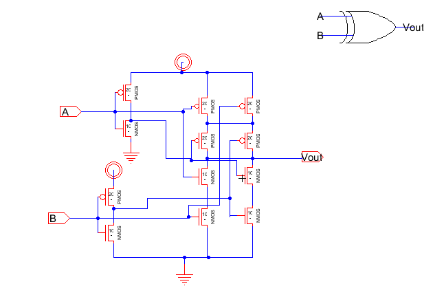 Lab 6 Xor Schematic on