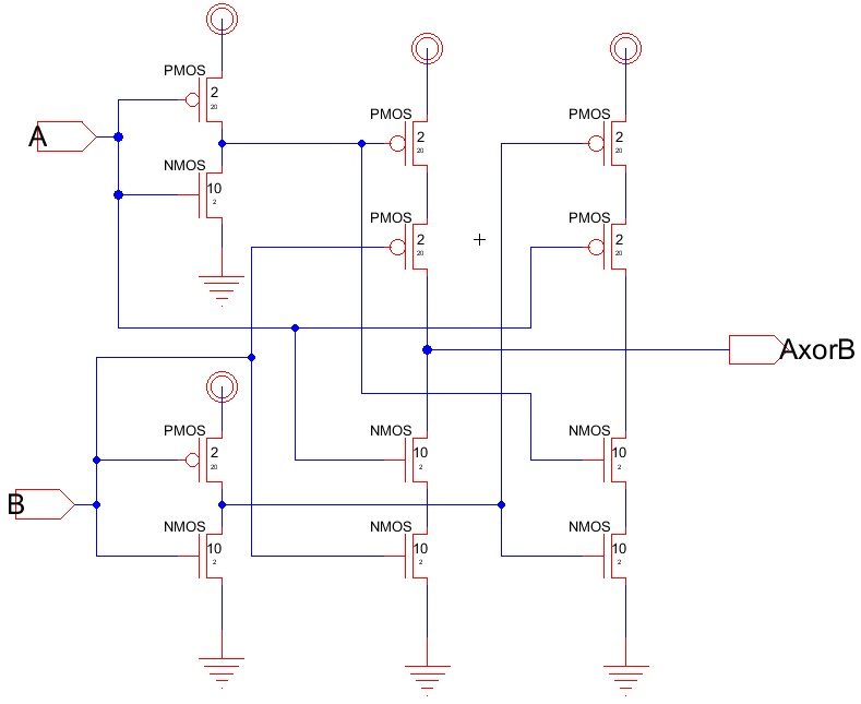 Cadence nor gate schematic cadence get free image about for Circuit nand