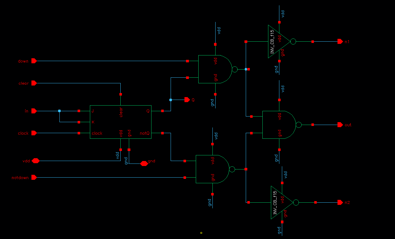 Final Project Ee421 Jk Latch Circuit To The Left Is A Schematic Of One Bit Counter We Modified D Flip Flop In Order Perform As J K