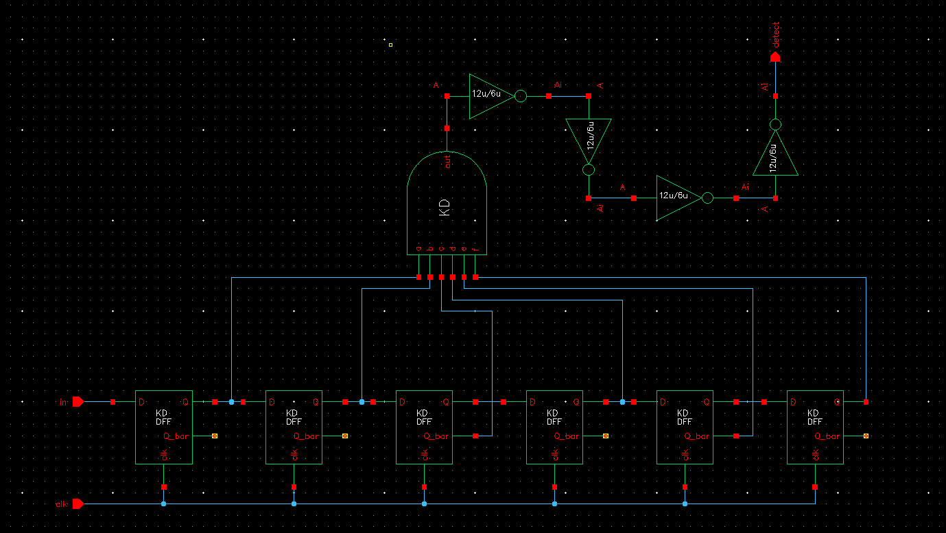 Lab Circuit Diagram Of D Flip Flop When The Selected Outputs From Each Matches Sequence Desired And Gate A High Level Logic Indicating Detection