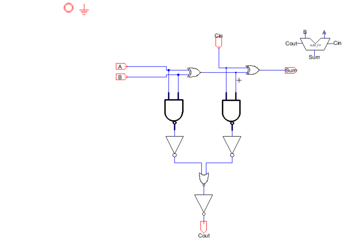 Lab In Block Diagram Form The 2 Bit Full Adder Looks Like Previous We Were Given Schematic Of A To 1 Demux But Werent Not Layout So I Made Be Used My 8 Alu