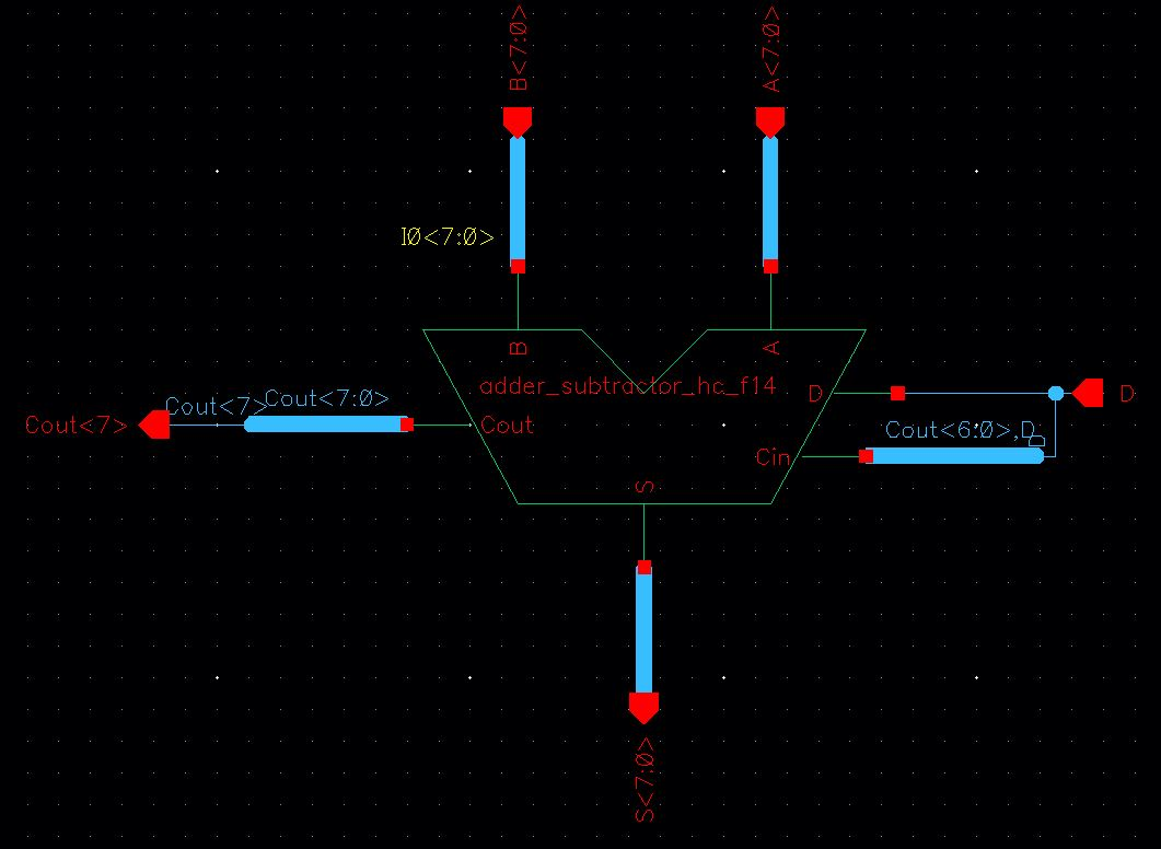 Lab Adder Subtractor Diagram Images 8adder Schematic