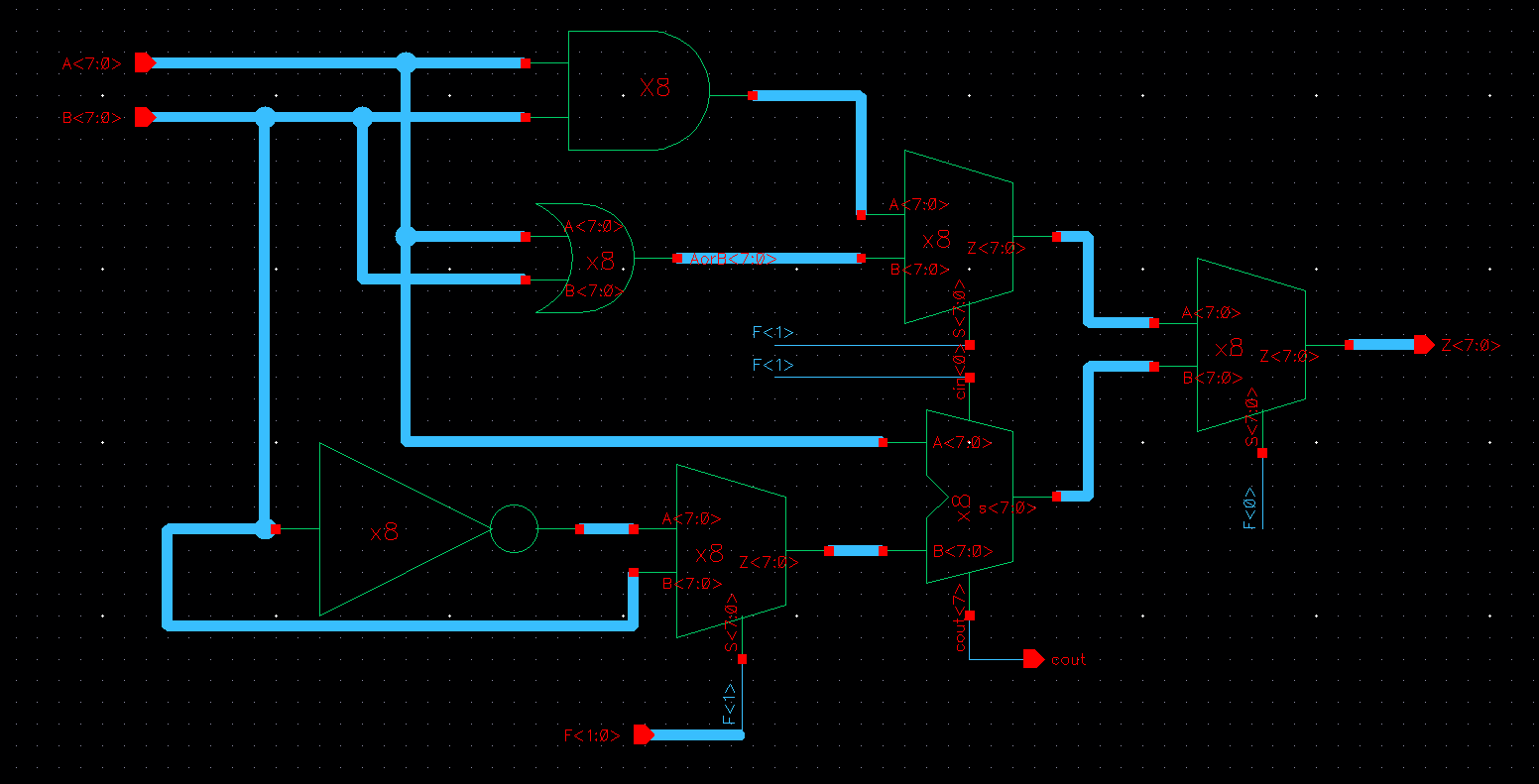 Lab 8 Bit Alu Circuit Diagram Following Is The Schematic Of