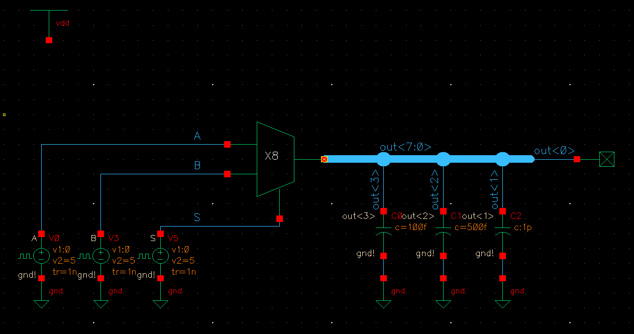 Lab Logic Diagram For 8 1 Multiplexer Simulation Schematic Mux Http Jbaker Courses Ee421l F16